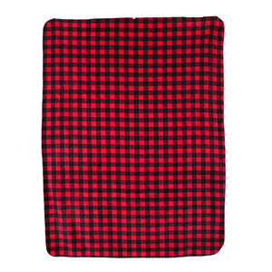 Black And Red Plaid Fleece Blanket