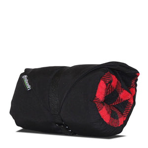 Black And Red Plaid Fleece Traveler Pillow