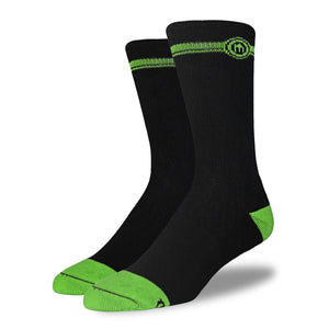 The Robert - Men's Black Crew Cut Socks