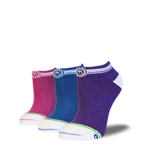 Bold Mix - Women's Low Cut Socks 3-Pack