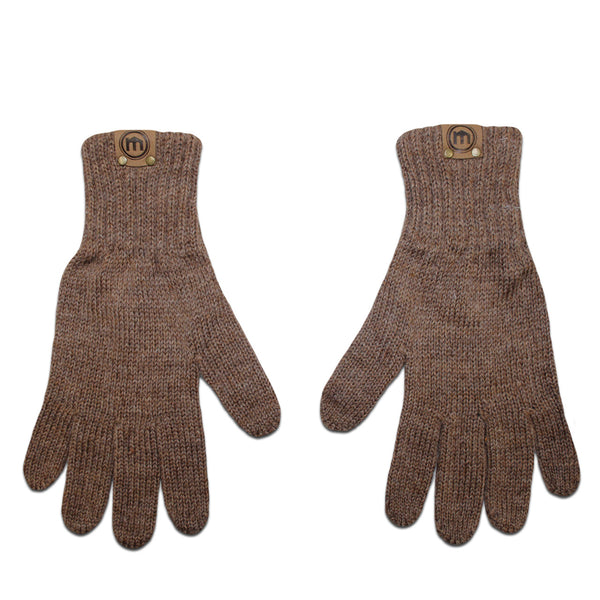Heather Brown Wool & Deerskin Palm Driver Gloves
