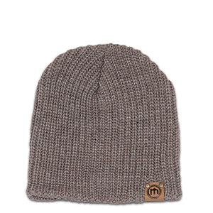 Brown Heather Lumberjack Knit Beanie