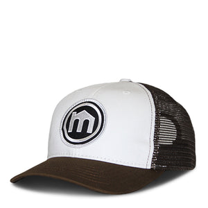 Brown and White Trucker Hat