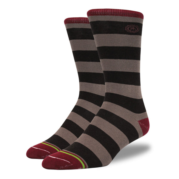The Rachel mens brown striped socks