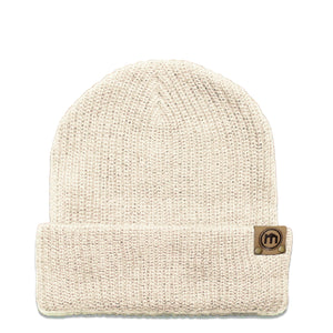 Cream Adjustable Cuffed Beanie
