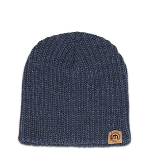 Denim Blue Lumberjack Knit Beanie