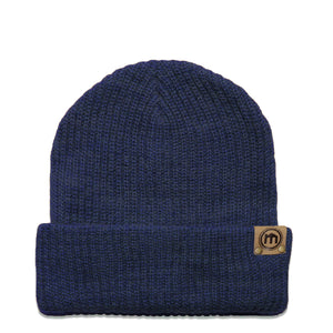 Denim Blue Adjustable Cuffed Beanie