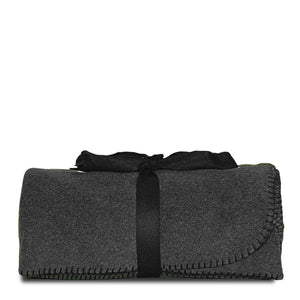 Graphite Fleece Blanket