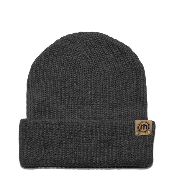 Graphite Adjustable Cuffed Beanie