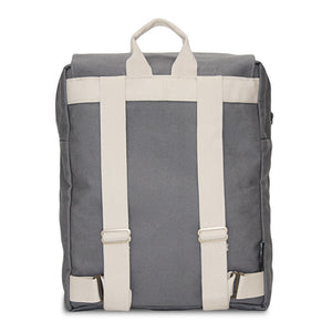 Light Gray + Teal Traveler Backpack