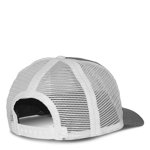 Heather Gray and White Trucker Hat