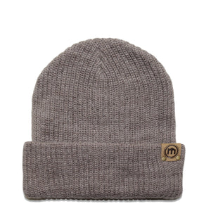 Brown Heather Adjustable Cuffed Beanie