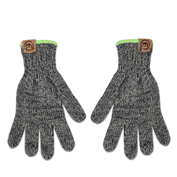 Graphite wool blend gloves