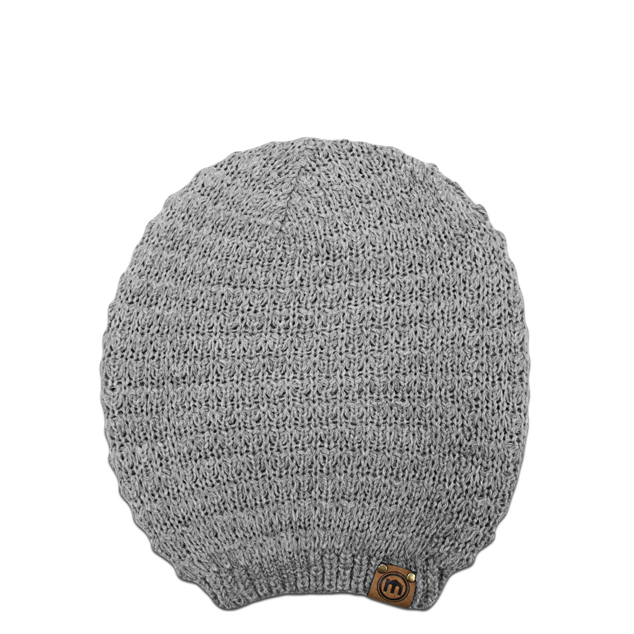 Mitscoots Outfitters - Heather Gray Slouchy Knit Beanie dacb08e085b