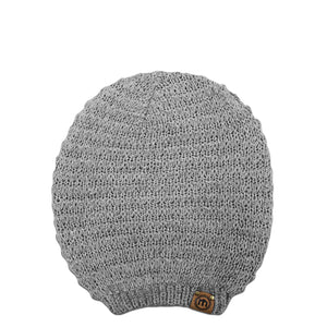 Heather Gray Slouchy Knit Beanie