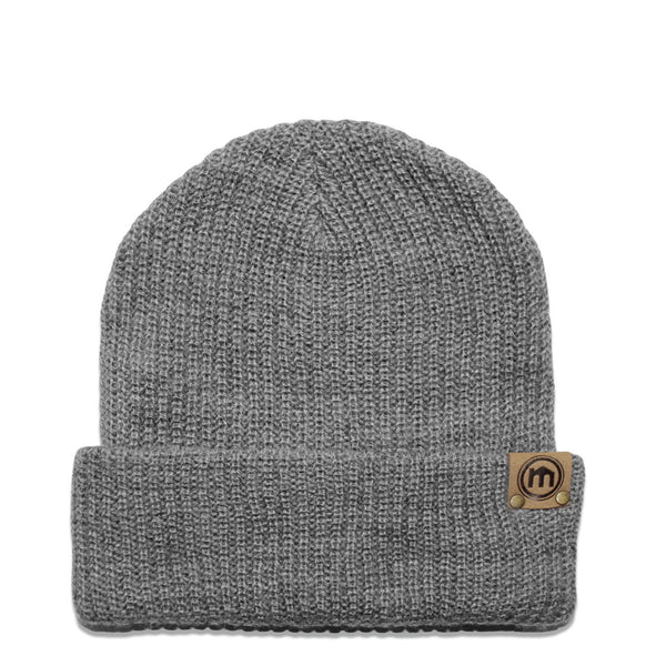 Heather Gray Adjustable Cuffed Beanie