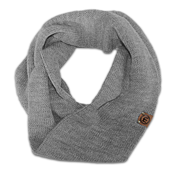 Heather gray infinity scarf