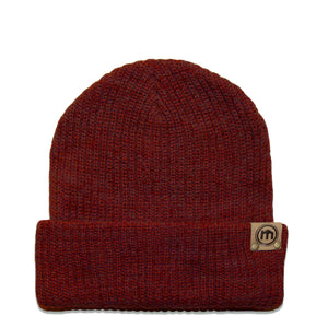Heather Red Adjustable Cuffed Beanie