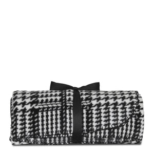 Houndstooth Fleece Blanket