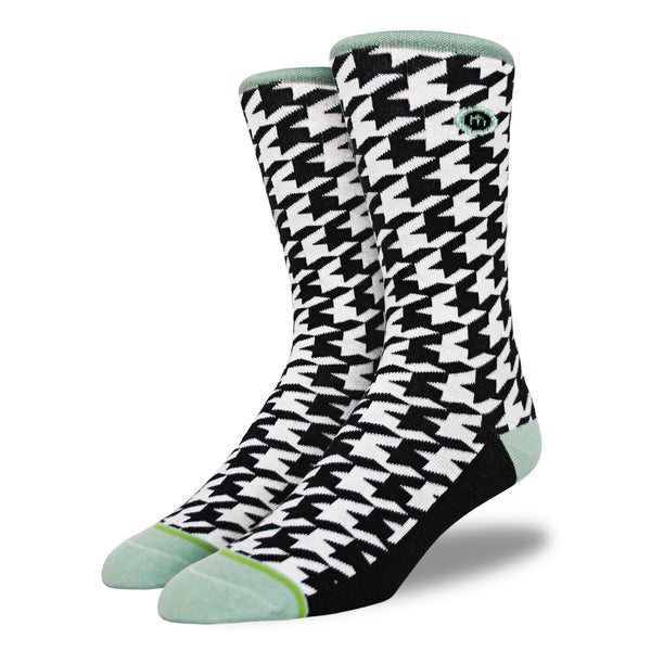 The Geno mens houndstooth socks