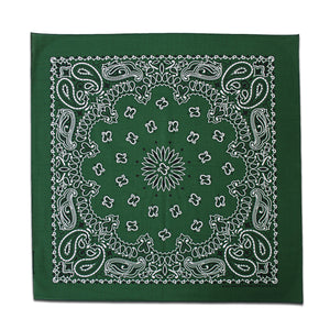Hunter Green Paisley Bandana