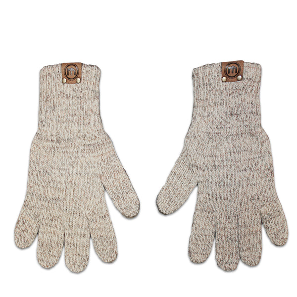 Ivory Wool & Deerskin Palm Driver Gloves