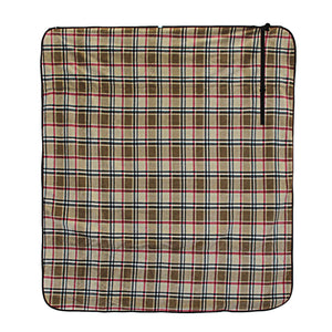 London Plaid Fleece Traveler Blanket