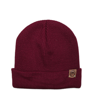 Maroon Adjustable Cuffed Beanie