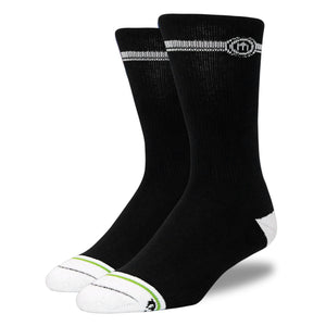 Men's Black Crew Cut Socks