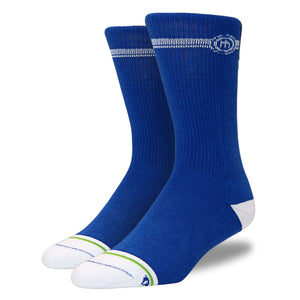 Men's Blue Black White Crew Cut Socks 3-Pack