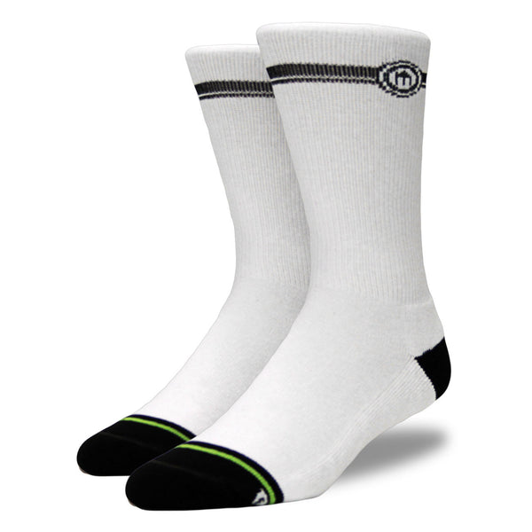 Men's White Crew Cut Socks