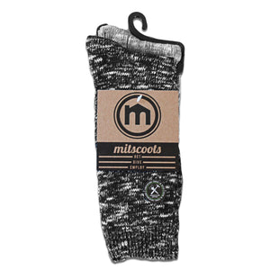Men's Black and Gray Boot Socks: 2-Pack