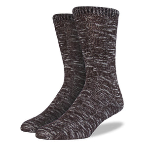 Men's Brown and Sand Boot Socks: 2-Pack