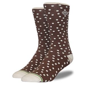 Men's Brown and Tan Polkadot Socks