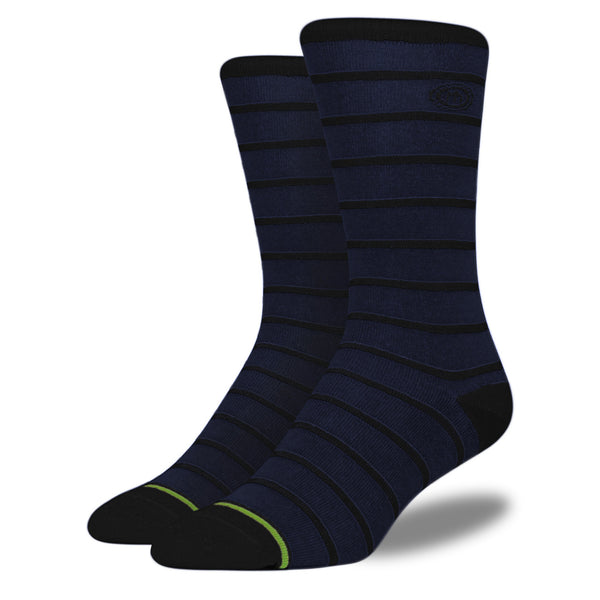 Men's Navy Striped Socks