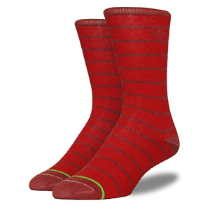 Men's Red Striped Socks