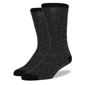 Men's Wool Blend Socks: Graphite Cable Knit
