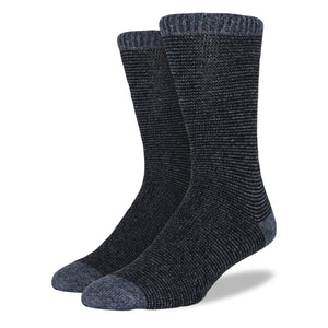 Men's Wool Blend Socks: Navy Striped