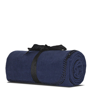 Navy Fleece Blanket