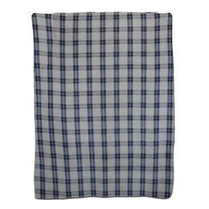 Navy Collegiate Plaid Fleece Blanket