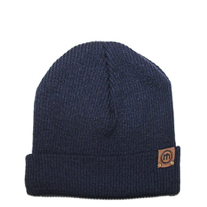 Navy Adjustable Cuffed Beanie