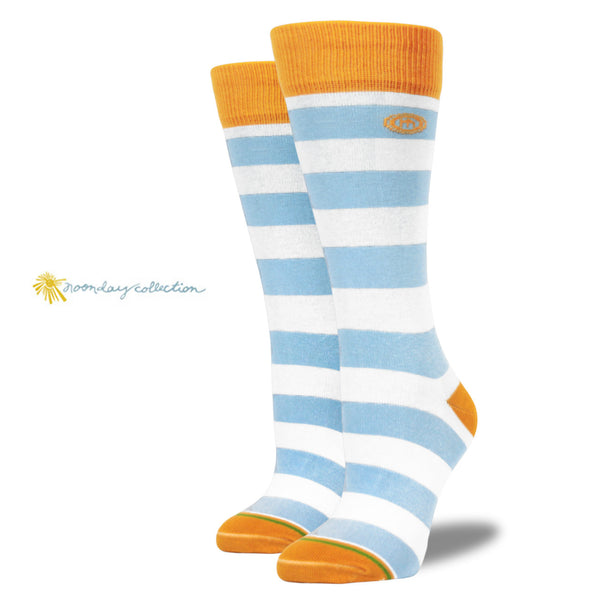 The Noonday womens blue striped socks
