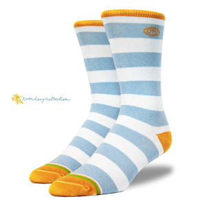 The Noonday mens blue striped socks