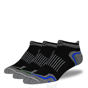 Men's Black Low Cut Performance Socks 3-Pack