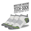 The Margaret mens white low cut performance socks 3 pack