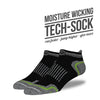 The Steve mens black low cut socks