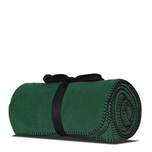 Pine Green Fleece Blanket