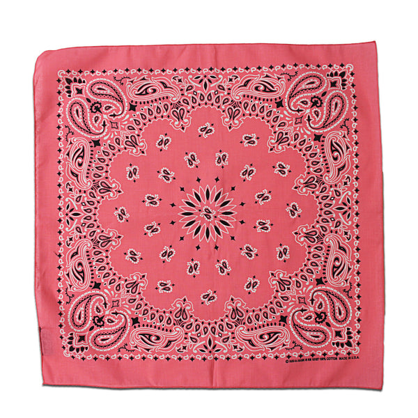Strawberry Pink Paisley Bandana