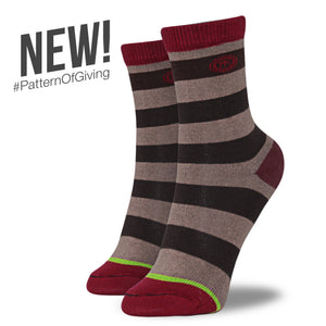 The Rachel kids brown striped socks