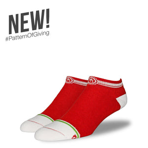 The Red mens low cut socks